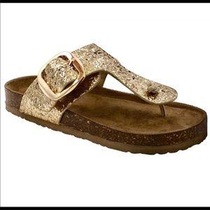 9f1135743 NEW Women s Gold Glitter Sandals Size 9
